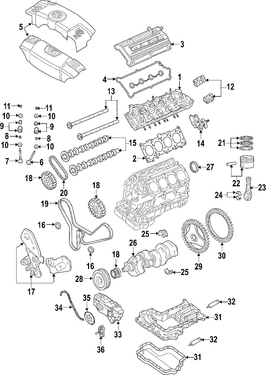 Volkswagen Phaeton Engine Mount Liter Motor