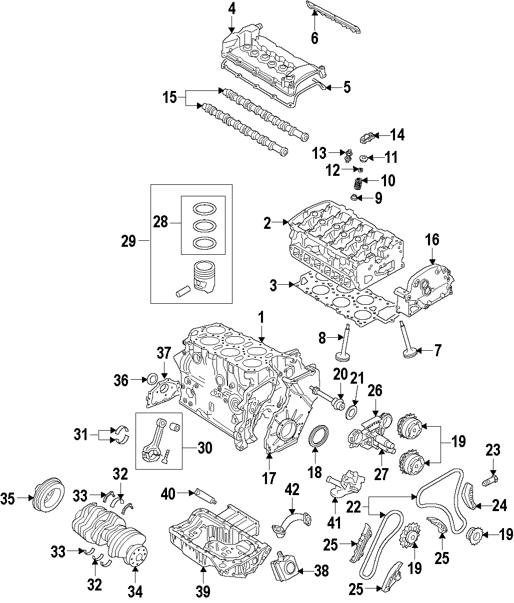 Volkswagen R32 Engine Timing Cover Front Upper 3