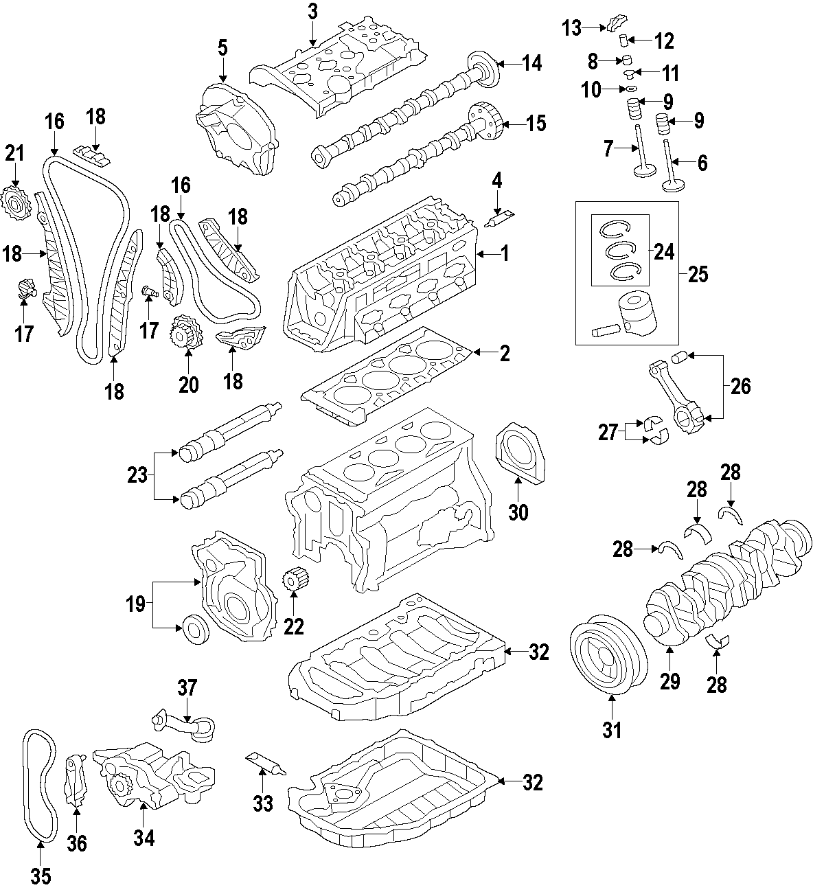 Volkswagen Tiguan Engine Timing Chain Guide Guide
