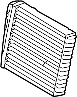 2010 Volkswagen Jetta Hvac heater core. Heatercore