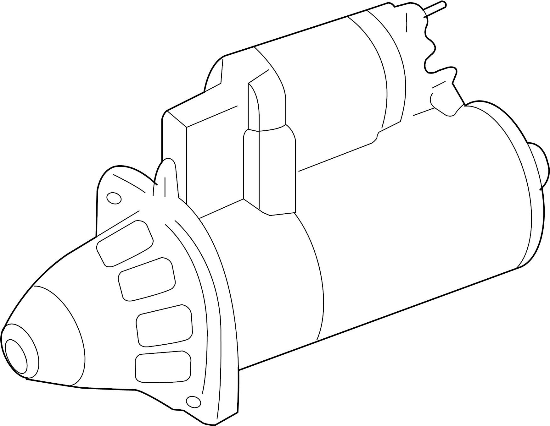 2009 Volkswagen Jetta GLI Starter Motor. 2.0 Kw. Includes