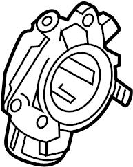 2014 Volkswagen Jetta Egr tube adapter. Egr valve spacer