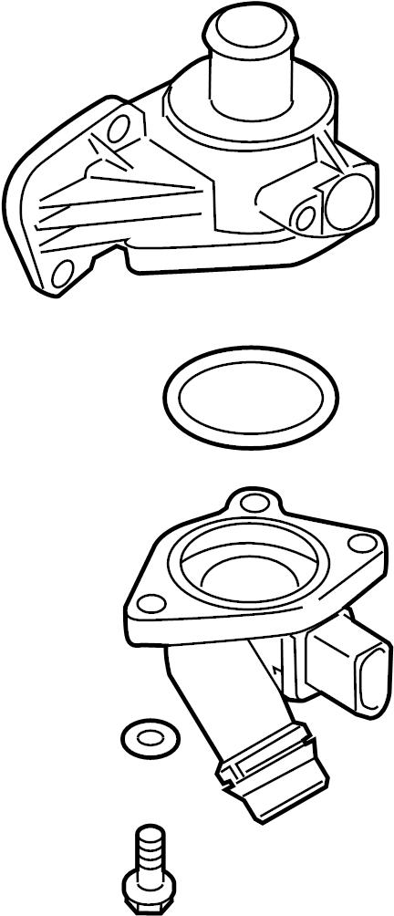 2014 Volkswagen Jetta Engine Coolant Thermostat Kit