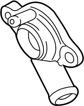 2015 Volkswagen SportWagen Adapter. Engine coolant outlet