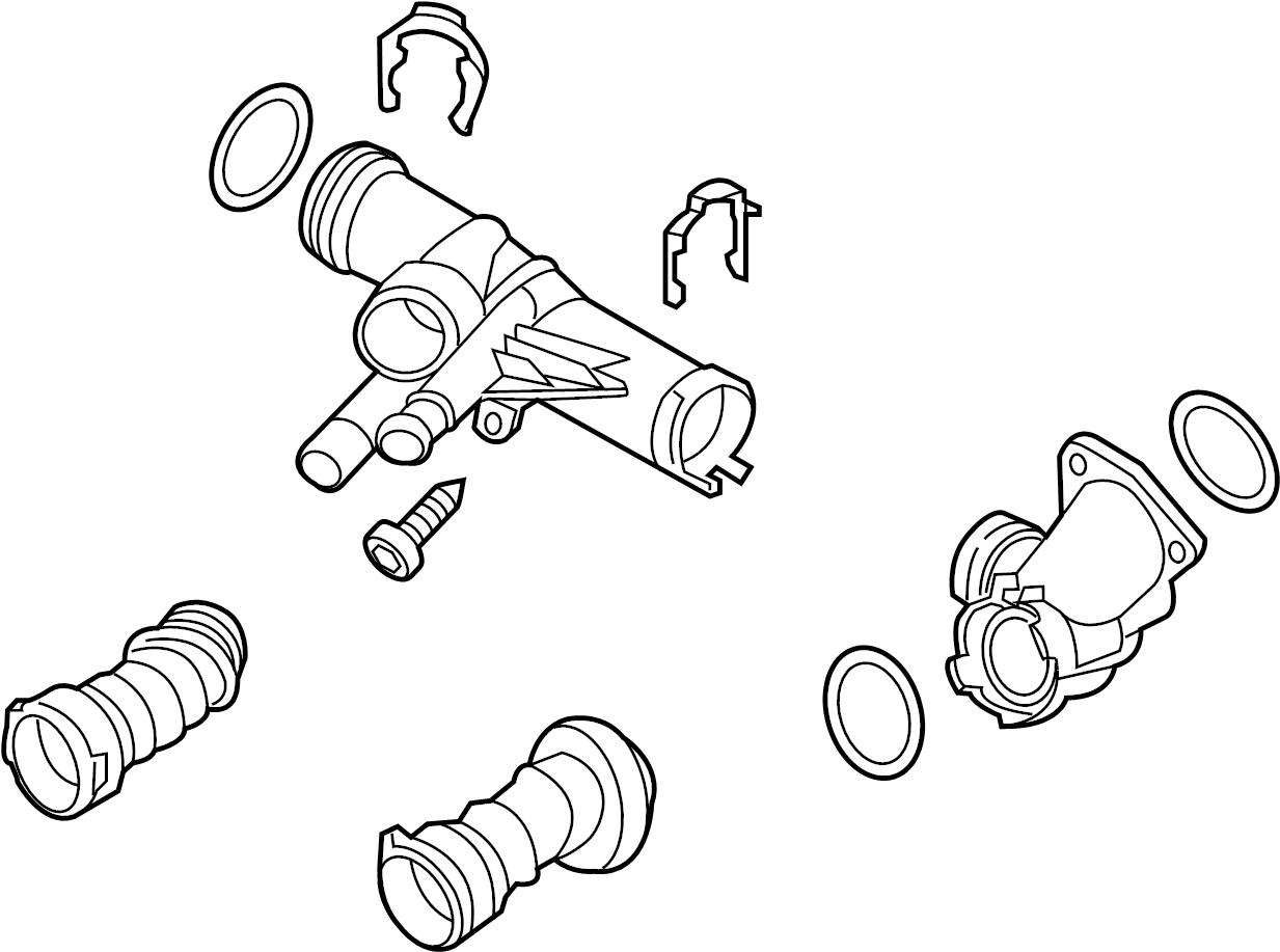 2015 Volkswagen Jetta Engine Coolant Thermostat Kit