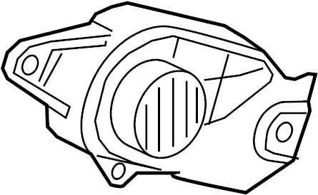 2015 Volkswagen Golf Accessory Drive Belt Cover. Engine
