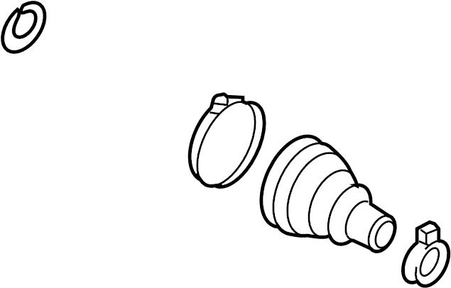 2004 Volkswagen Beetle Cv joint boot kit. Trans, manual