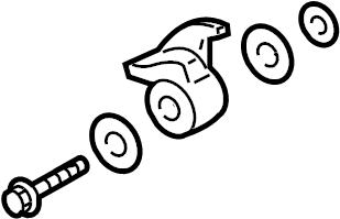 2004 Volkswagen Passat Engine Timing Belt Tensioner. LEVER