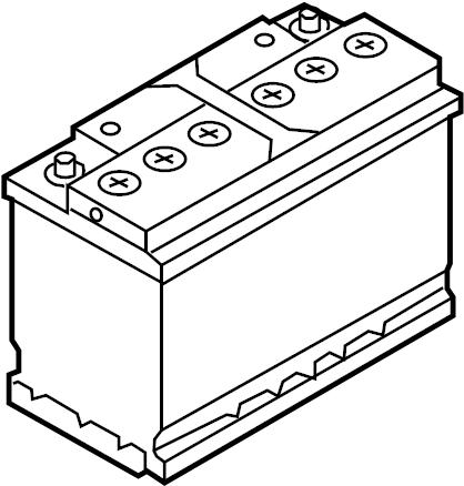 2005 Volkswagen Phaeton Battery. Vehicle Battery. Audi
