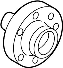 2005 Volkswagen Phaeton Wheel Hub (Front). LeftWCERAMIC