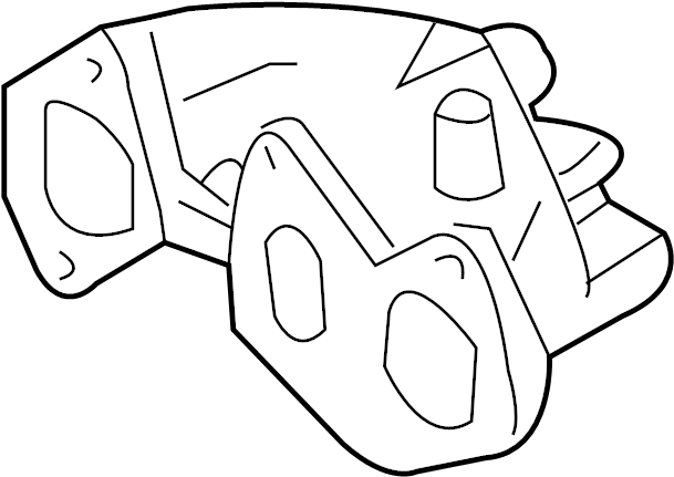 2003 Volkswagen Jetta GLI Exhaust manifold. Cyl.4-6