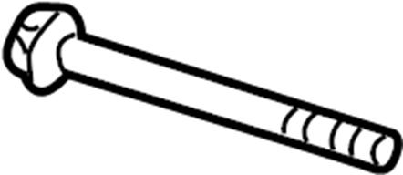 2007 Volkswagen Beetle Convertible Axle beam bolt. SCREW