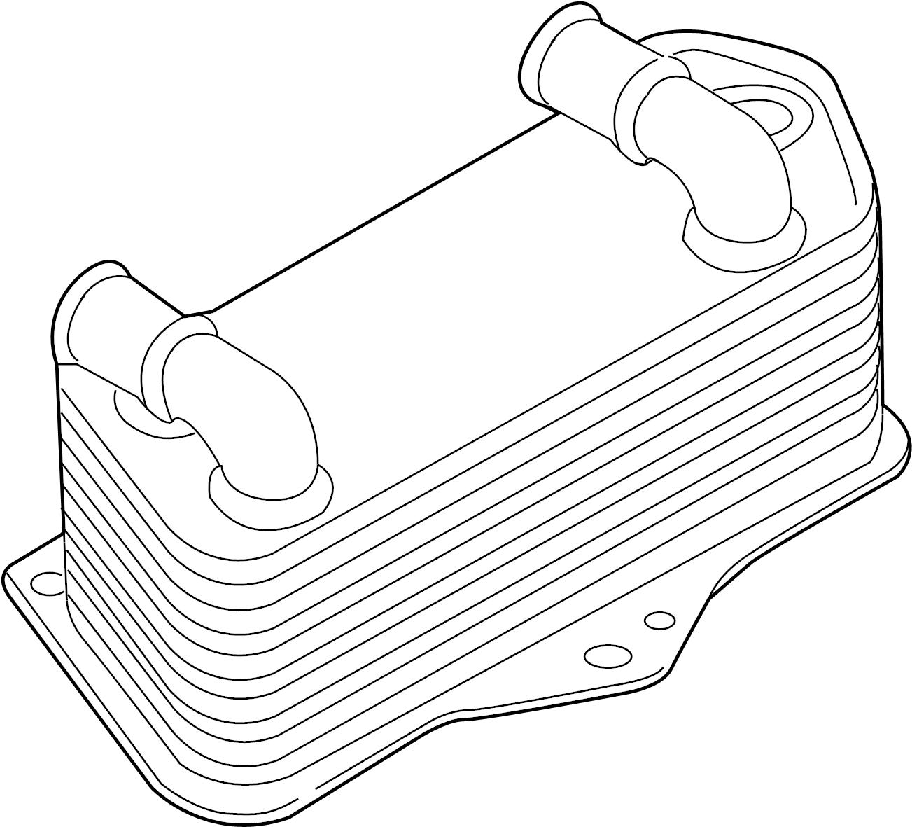 2009 Volkswagen Rabbit Oil cooler. Trans cooler. Audi