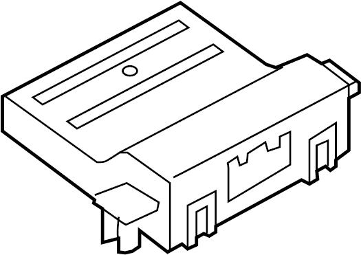 2014 Volkswagen GTI Diagnostic Test Connector. PASSENGER