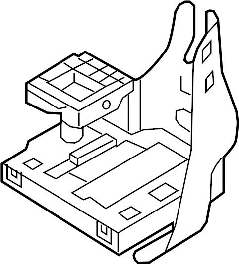 2017 Volkswagen Bracket. Mount. Module. Control