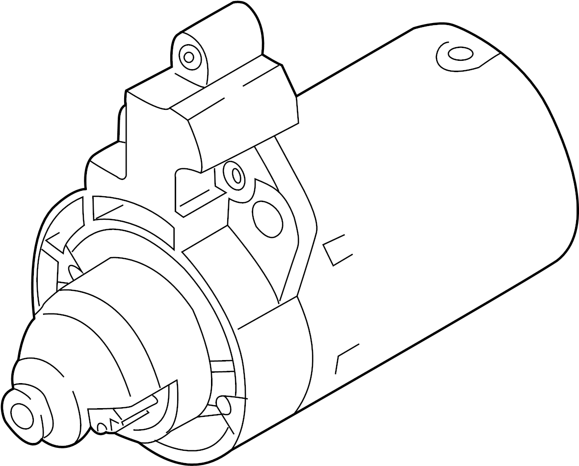 2012 Volkswagen CC Starter Motor. 1.1 Kw. New. Trans