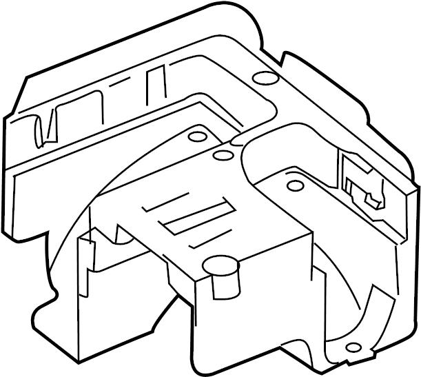 2008 Volkswagen Rabbit Bracket. Fuse. Relay. Box. And