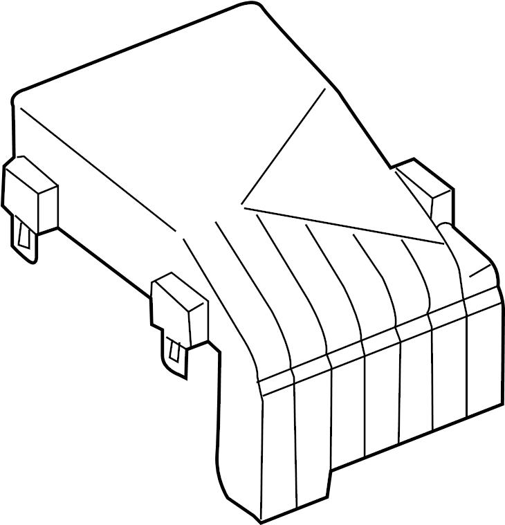 2010 Volkswagen Jetta Fuse box cover. Amp, Engine