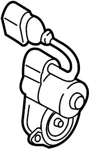2010 Volkswagen Passat Wagon Parking Brake Actuator. AWD