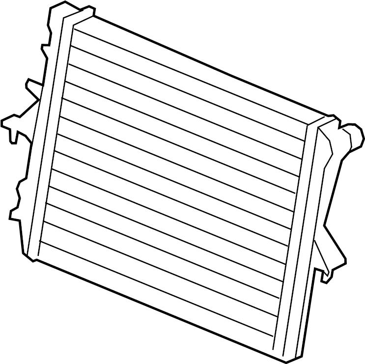 2005 Volkswagen Touareg Radiator. Engine Cooling; Primary
