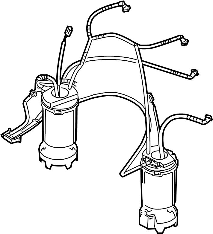 2009 Volkswagen Touareg Fuel pump. Fuel pump assy. Module
