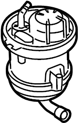 2012 Volkswagen Touareg Fuel. Pump. Flange. Filter. Diesel