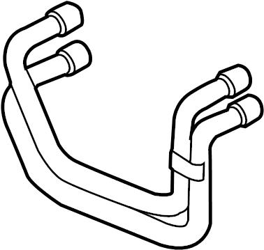 2010 Volkswagen Touareg Engine Coolant Hose. 3.0 LITER