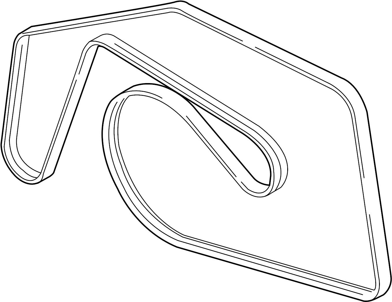 2013 Volkswagen Touareg Ribbedbelt. Serpentine belt. 2013