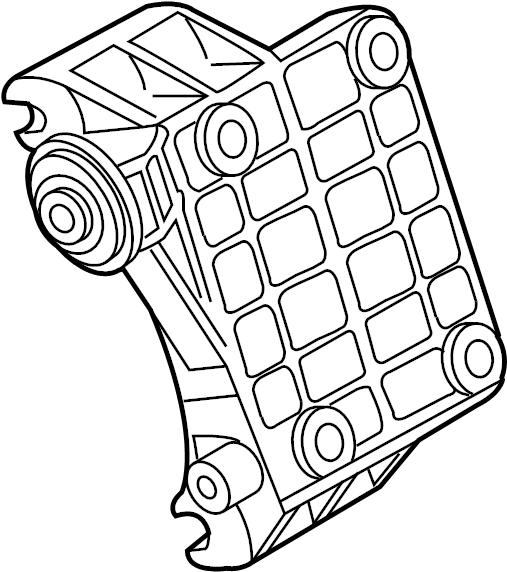 2014 Volkswagen Touareg Alternator BRACKET. Mount bracket