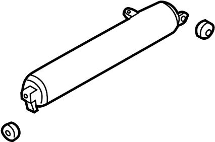 2004 Volkswagen Touareg Pressure CYLINDER. Pressure sensor