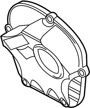 2014 Volkswagen Tiguan Engine Timing Cover (Front, Upper