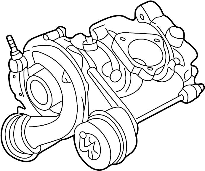 2000 Volkswagen Passat Turbocharger. 1.8 liter. Old style