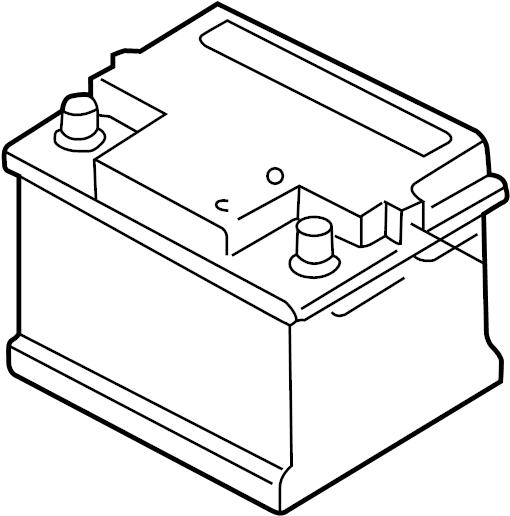 2003 Volkswagen Golf Battery. Vehicle Battery. Audi