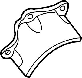 2004 Volkswagen Passat Cv joint splash shield. Trans