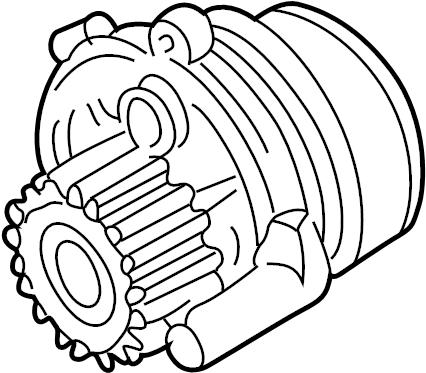 2008 Volkswagen Passat Wagon Engine Water Pump Assembly
