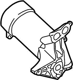 2008 Volkswagen Touareg Engine Oil Filter Adapter. Engine
