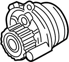 2003 Volkswagen Golf Engine Water Pump. Remanufactured