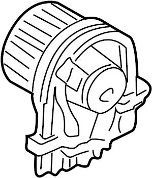 2009 Volkswagen Beetle Blower. Motor. Fan. HVAC