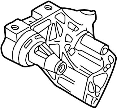 2004 Volkswagen Golf Engine Mount Bracket. Side support. 1