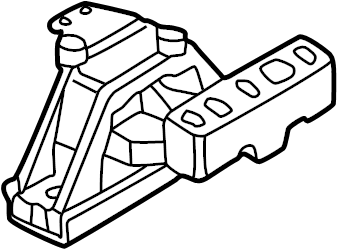 2003 Volkswagen Jetta Wagon Mount. Support. Engine. REAR