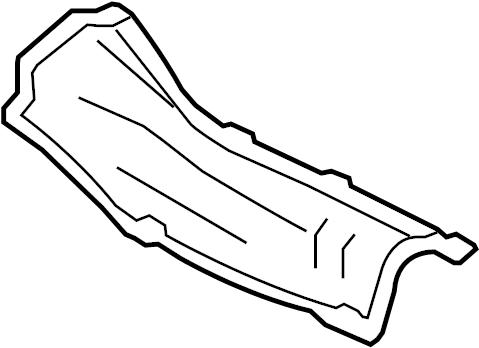 2001 Volkswagen Jetta Wagon Exhaust Heat Shield. Floor Pan