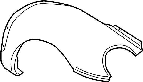 2004 Volkswagen Beetle Fender. Convertible,. Coupe,. Right