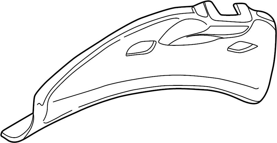 2001 Volkswagen Beetle Liftgate Trim (Lower). Coupe