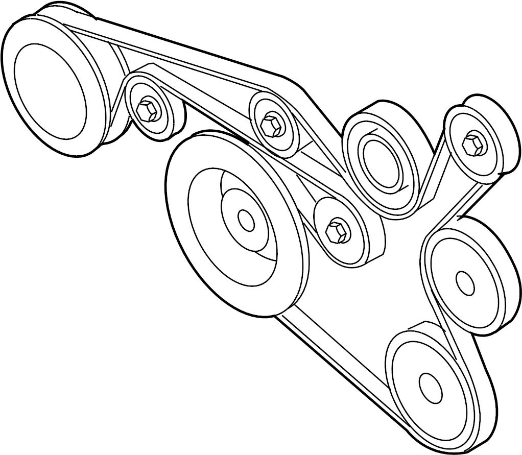 2009 Volkswagen Beetle Convertible Serpentine Belt. Belts