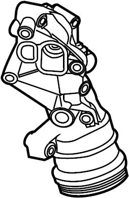 2013 Volkswagen Golf Engine Oil Filter Adapter. LITER