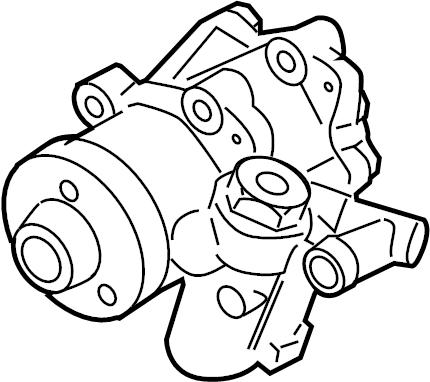 2007 Volkswagen Beetle Convertible Power Steering Pump