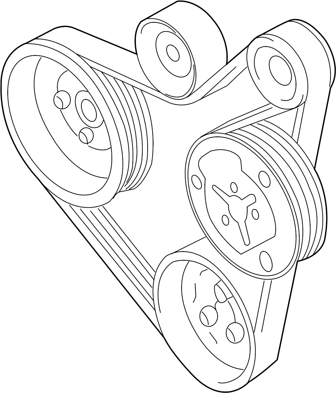 2001 Volkswagen Jetta Wagon Serpentine Belt. DoubleBelt