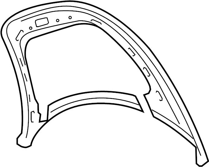 2010 Volkswagen Beetle Convertible Hood Panel. Convertible