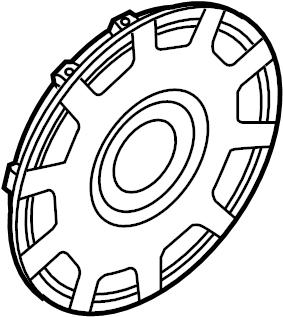 2004 Volkswagen Beetle Convertible Wheel Cover. Silver