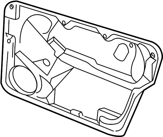 2006 Volkswagen Beetle Convertible Door Panel Carrier
